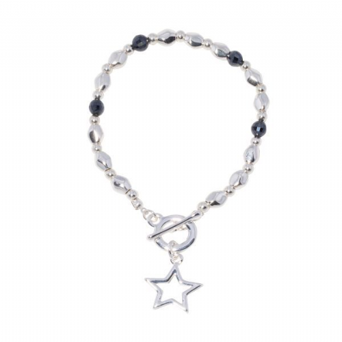 Star Charm Bracelet with T Closure